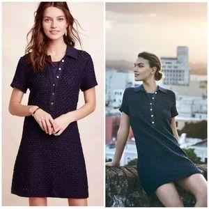 Moth Marin Crochet Short Sleeve Dress